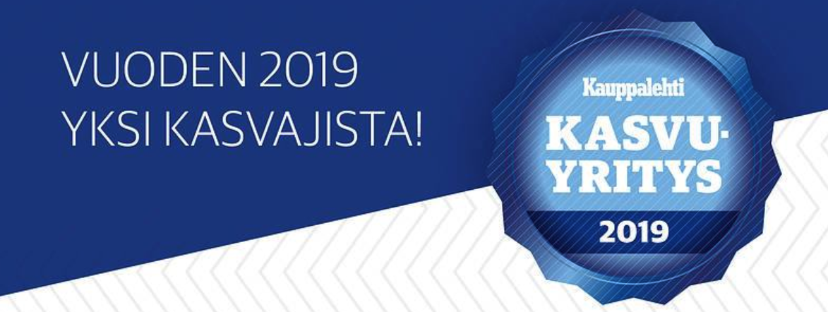 Kauppalehti on myöntänyt Tehdenille Kasvaja 2019 -sertifikaatin