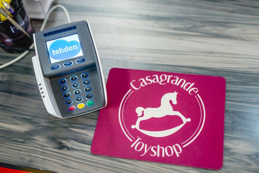 Leluliike Casagrandella on käytössään Tehden kassajärjestelmä.