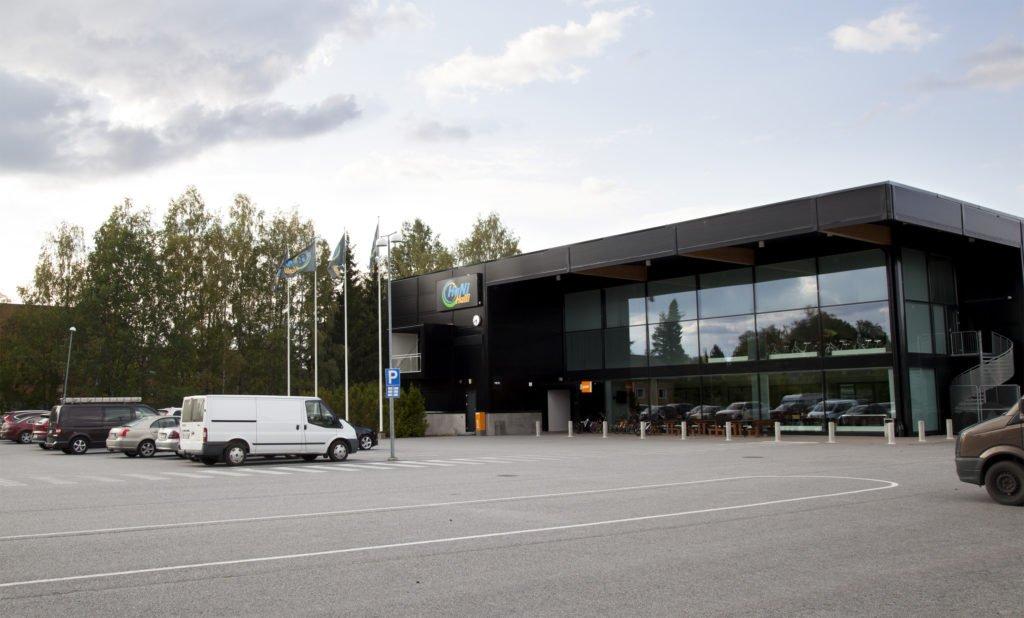 Mynämäessä sijaitsevan HaNi-Hallin ulkokuva.