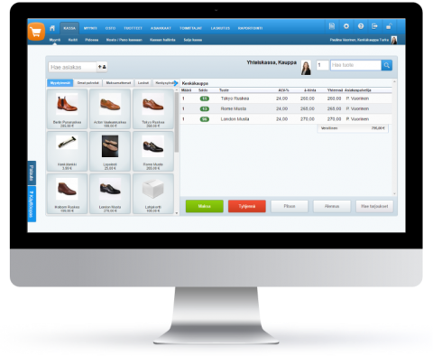 Tehden ERP - toiminnanohjausjärjestelmä kaupan alan yrityksille